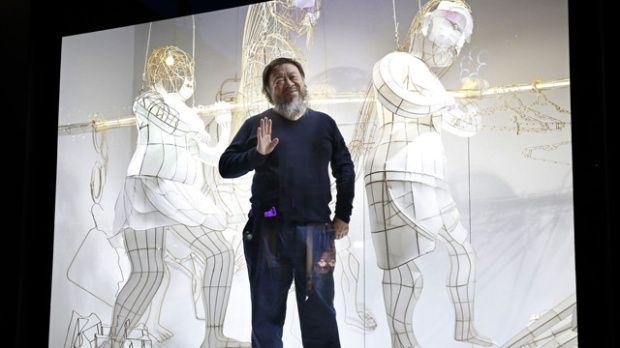 Ai Weiwei au Bon Marché Rive Gauche © AFP/PATRICK KOVARIK