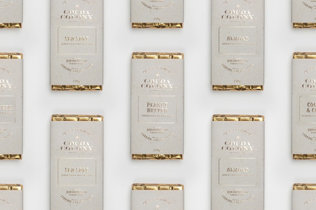 Packaging par le studio Bravo pour Cocoa Colony