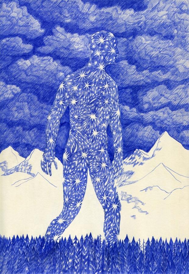 Blue lines par Kevin Lucbert