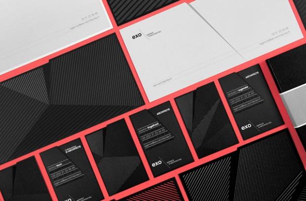 L'identité visuelle de l'agence d'architecture EXO par le studio graphique Murmure