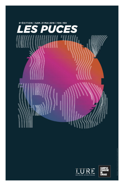 Affiches des puces Typo 2016 conçu par Florian Grimaud