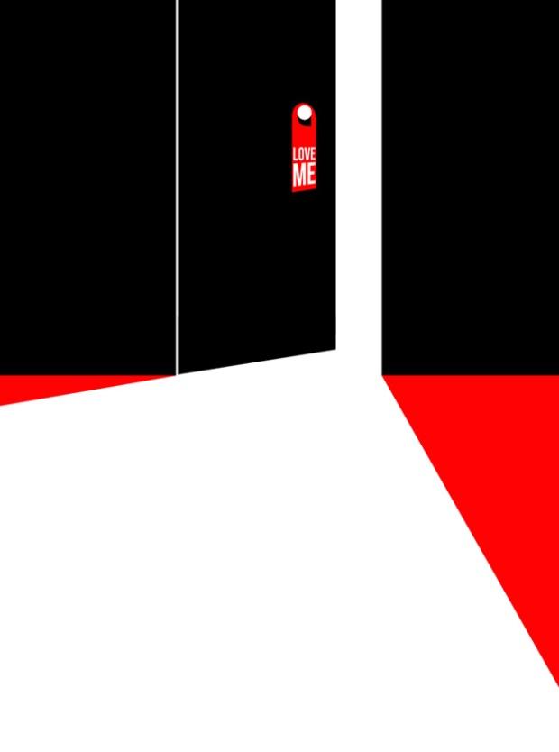 Inspirationsgraphiques-illustrations-le-Sonneur-artiste-Door-Hangers-street-art-geometrie-sonnettes-rouges-Shining-Stanley-Kubrick-affiche-Saul-Bass-02