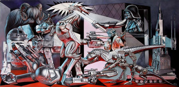 inspirationsgraphiques-ron-english-guernica-popaganda-pablo-picasso-pop-culture-allouche-gallery-01