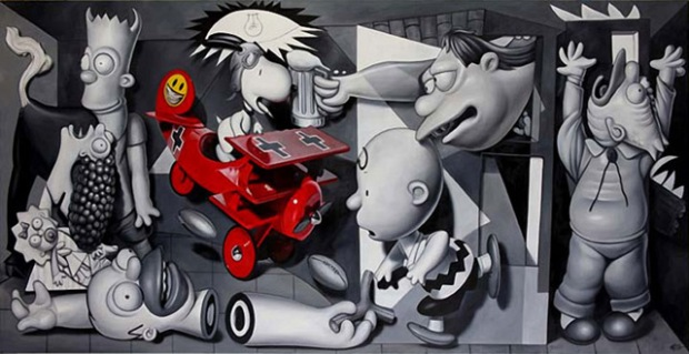 inspirationsgraphiques-ron-english-guernica-popaganda-pablo-picasso-pop-culture-allouche-gallery-05