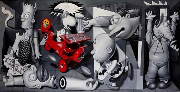 inspirationsgraphiques-ron-english-guernica-popaganda-pablo-picasso-pop-culture-allouche-gallery-05