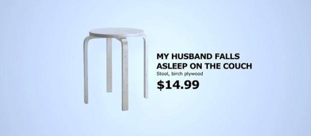 """""""Mon mari s'endort sur le canapé"""""""