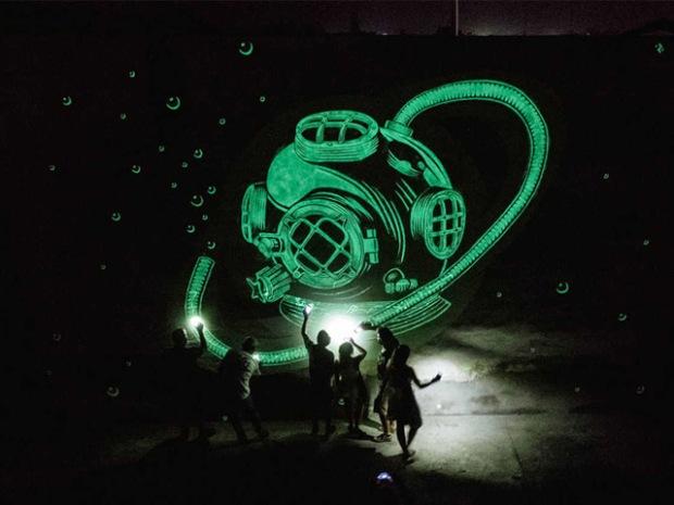 inspirationsgraphiques-streetart-peinture-phosphorescente-graphistes-illustrateurs-maria-lopez-javier-riba-reskate-studio-art-graphique-fresques-murales-04
