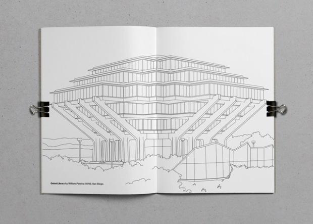 Larchitecture Brutaliste à Colorier Inspirations Graphiques