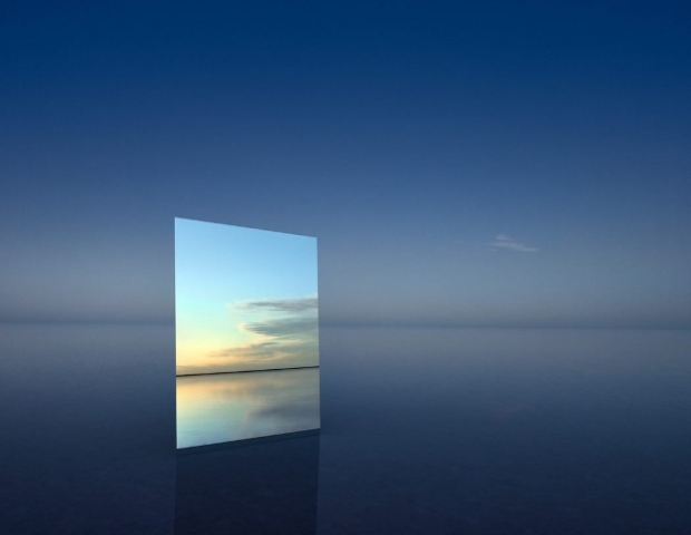 Photographie un miroir pour sublimer un paysage for Miroir graphique