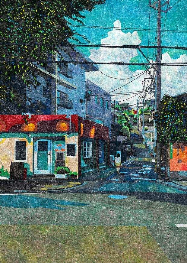 Inspirationsgraphiques-rue-Masashi-Shimakawa-Japon-formation-illustrateur-techniques-illustration-palette-couleur-originale-jeu-texture-01