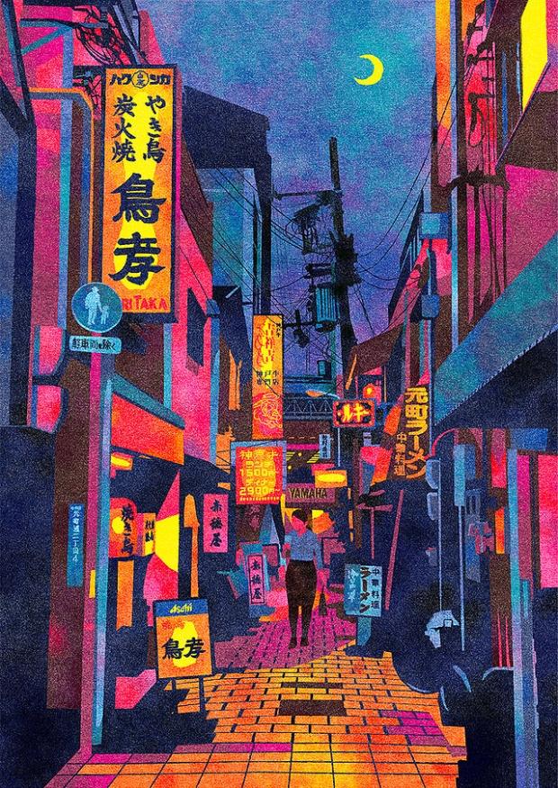 Inspirationsgraphiques-rue-Masashi-Shimakawa-Japon-formation-illustrateur-techniques-illustration-palette-couleur-originale-jeu-texture-03
