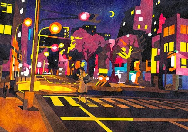 Inspirationsgraphiques-rue-Masashi-Shimakawa-Japon-formation-illustrateur-techniques-illustration-palette-couleur-originale-jeu-texture-04