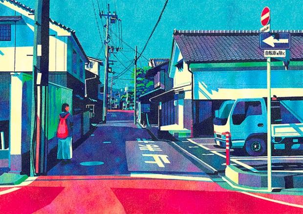 Inspirationsgraphiques-rue-Masashi-Shimakawa-Japon-formation-illustrateur-techniques-illustration-palette-couleur-originale-jeu-texture-05