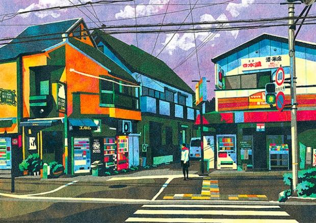 Inspirationsgraphiques-rue-Masashi-Shimakawa-Japon-formation-illustrateur-techniques-illustration-palette-couleur-originale-jeu-texture-07